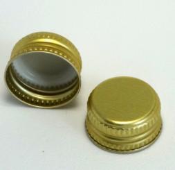 Aluverschluß MCA 28 gold für Wein mit Gewinde