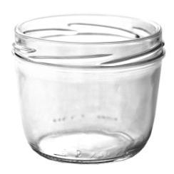 Sturzglas 230ml TO82 weiss nieder 6,7cm