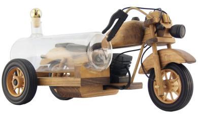 Modell-Motorrad Holz 0,35