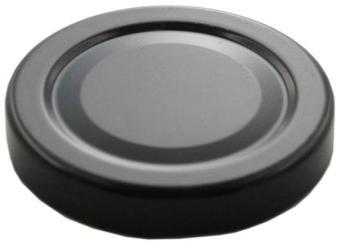 Deckel TO 66 schwarz  ohne Druckbutton