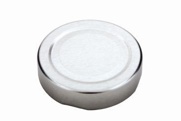 Deckel TO 58 Deep silber nicht für ölhaltige Inhalte geeignet