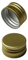 Aluverschluß PP22 gold mit Gewinde