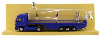 LKW Mercedes blau Kunststoff mit Glastank 0,5
