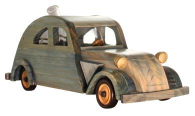 Modell Citroen 2 CV  Holzmodell mit Glastank 350 ml