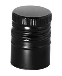 Aluverschluss PP 31,5x44 Longcap schwarz mit Ausgießer und Gewinde