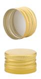 Aluverschluß PP18 gold mit Gewinde und Sicherungsring