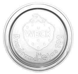 Glasdeckel RR 100 weiss