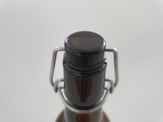 Bügelverschluß PVC schwarz Gummi schwarz