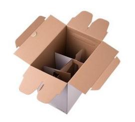 Verpackungskarton/Kenga   6x0,35/0,5/0,7l m. Fach Braun