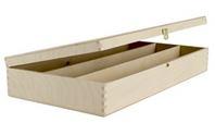 Holzkassette mit Klappdeckel 3x0,2 Platin (H)