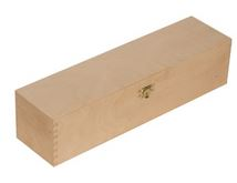 Holzkassette mit Klappdeckel 1 x 0,2 Platin