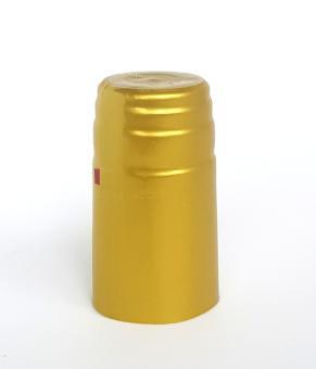 Schrumpfkapsel klar 31x60mm für PP28 mit Abrissband Deckel gold