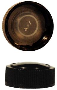 PP24 Schraubverschluss schwarz - Kunststoff mit Gewinde