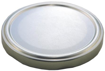 Deckel TO58 silber - auch für ölhaltige Inhalte geeignet