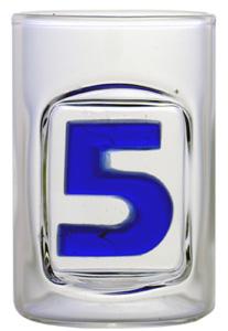 Zahl 5 - Schnapsstamper Muschel MGB