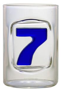 Zahl 7 - Schnapsstamper Muschel MGB