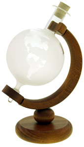 Globus 200ml weiß mit Holzgestell MGB
