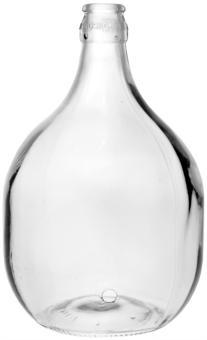 Glasballon   5000ml weiß gebohrt 28mm