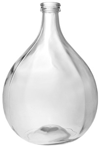 Glasballon 15000ml weiß blank 40mm