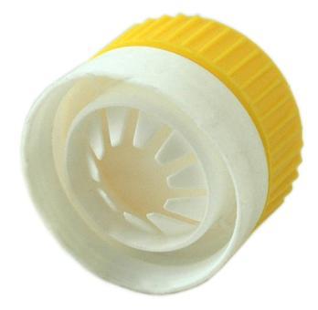 Ricalverschluss gelb/weiß