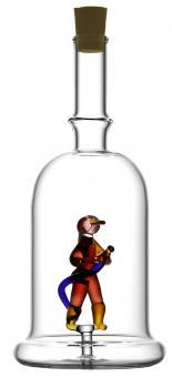 Feuerwehrmann - Flasche 200ml weiß MGB