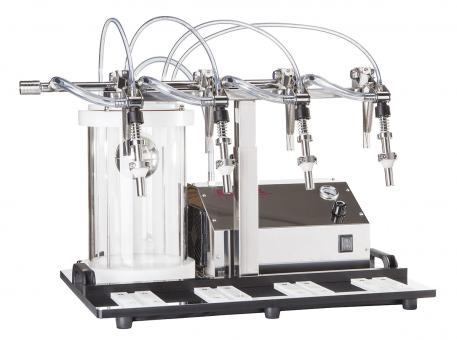 "Enolmaster \""Ö\"" Vakuumfüller 4St. Inkl. VA Füllventile und Pyrex-Behälter, Silikonausst. 230 Volt, 50Hz."