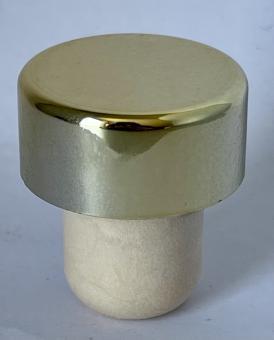Scheibe PE mit Alu-Kappe gold 19mm KGK
