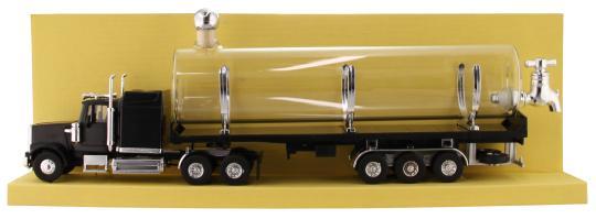 LKW Westernstar schwarz Kunststoff mit Glastank 500ml