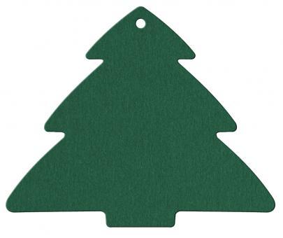 Anhängekarte Tannenbaum 85x70mm Karton grün Packung á 50 Stück