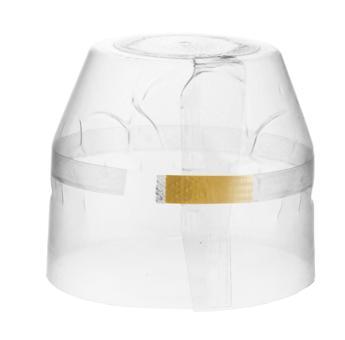 Schrumpfkapsel klar 39x35mm mit Abrissband Deckel transparent