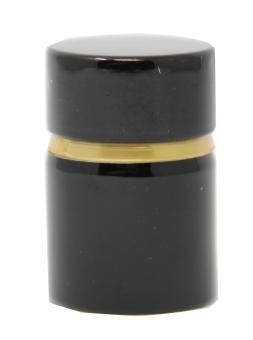 TOP/GUALA Aluverschluß schwarz mit Ölausgießer