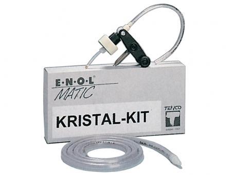Zusatz-Kit Kristall für Abfüllgerät Enolmatic Innendurchmesser: ab 12mm Außendurchmesser: max. 27mm -Flaschen mit langem, engem Hals -Füllhöhe individuell einstellbar