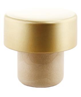 Scheibe PE mit Alu-Kappe gold 23mm KGK