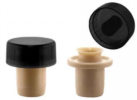 Ausgießer T-Mix schwarz 19mm