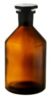 Steilbrustflasche 250ml braun Enghals inkl. geschliffenem Glasverschluss