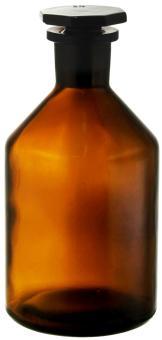 Steilbrustflasche 0,5 braun inkl. Glasverschluss H 178mm, D 87,5mm