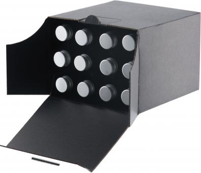 Kropfhals 40ml -  Pack á 10 Stück - 12er Verpackung schwarz